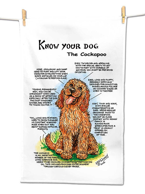 Cockapoo - Tea Towel - Know Your Dog - Pack of 6
