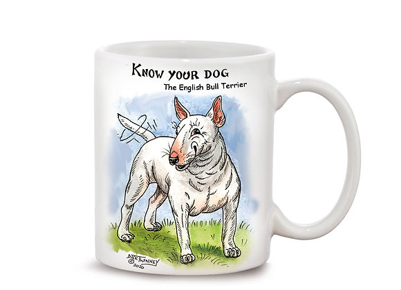 English Bull Terrier - 11oz Mug - Know Your Dog - Pack of 6
