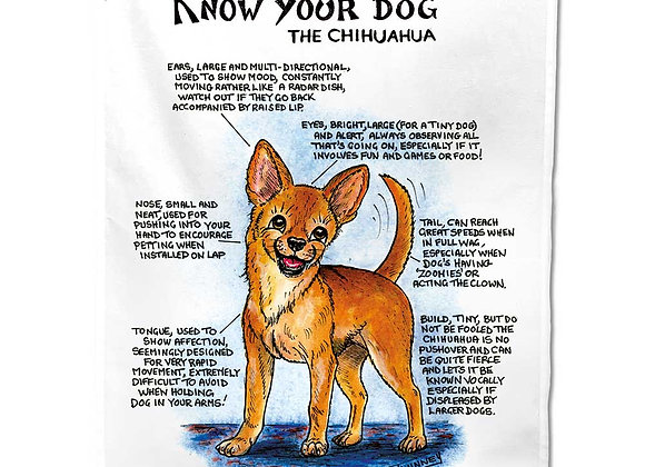Chihuahua - Tea Towel - Know Your Dog - Pack of 6