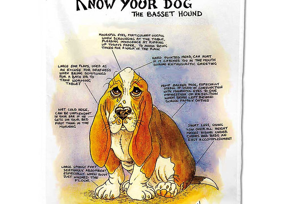 Bassett - Tea Towel - Know Your Dog - Pack of 6