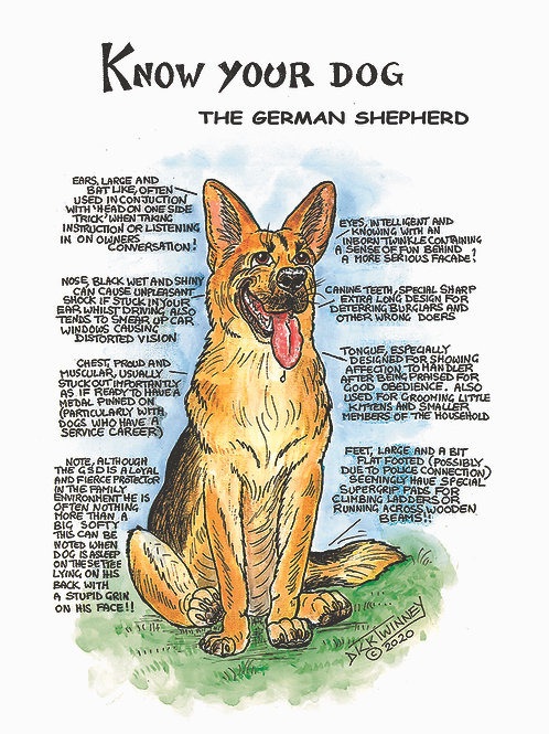 German Shepherd - Greetings Card - Know Your Dog - Pack of 6