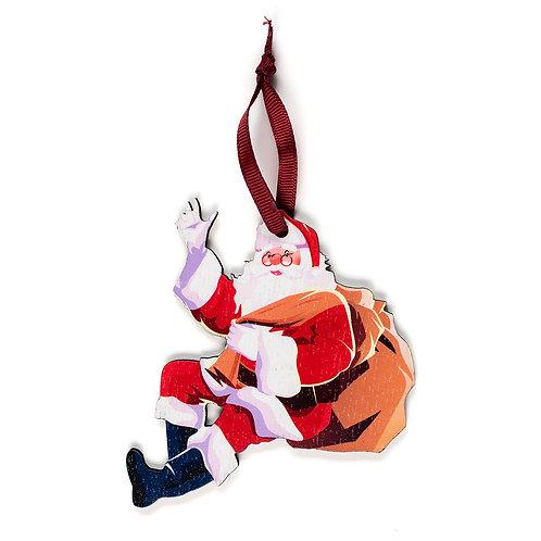 Santa Claus -Wooden Tree Hanger - Pack of 12