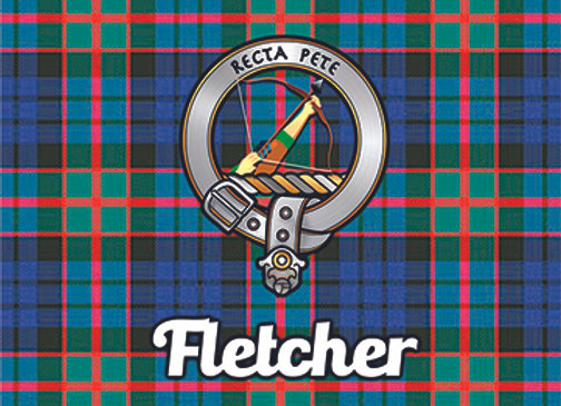 Fletcher: Glass Coaster, Pack of 6