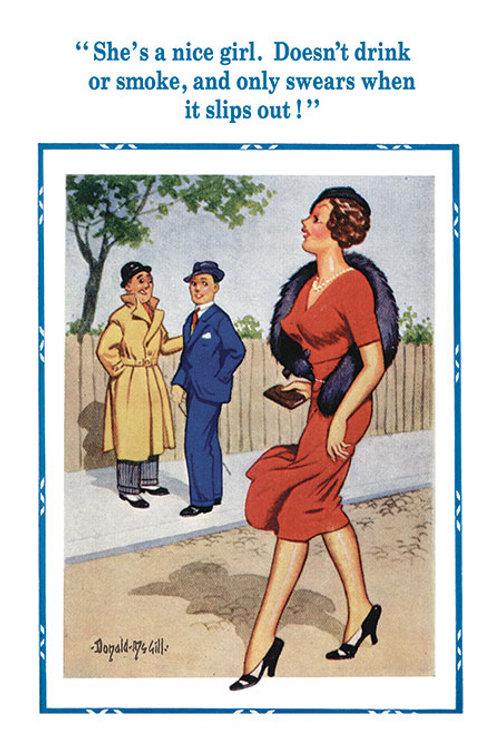 Nice Girl - Donald McGill - Postcards Pack of 48