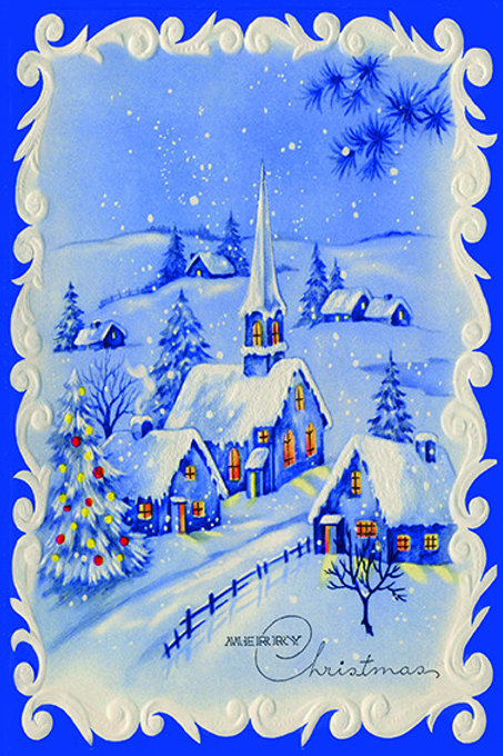 Wooden Christmas Card 72 - Pack of 6