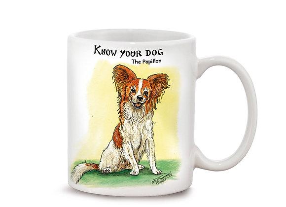 Papillion - 11oz Mug - Know Your Dog - Pack of 6