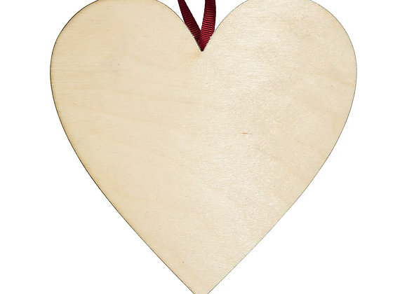 Large Wooden Heart - Pack of 24