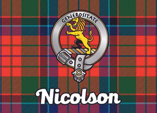 Nicolson: Glass Coaster, Pack of 6