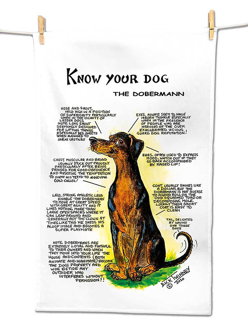 Doberman - Tea Towel - Know Your Dog - Pack of 6