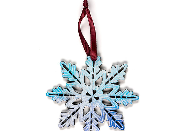 Snow Flake -Wooden Tree Hanger - Pack of 12