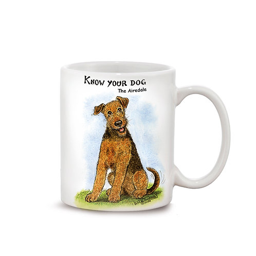 Airedale - 11oz Mug - Know Your Dog - Pack of 6