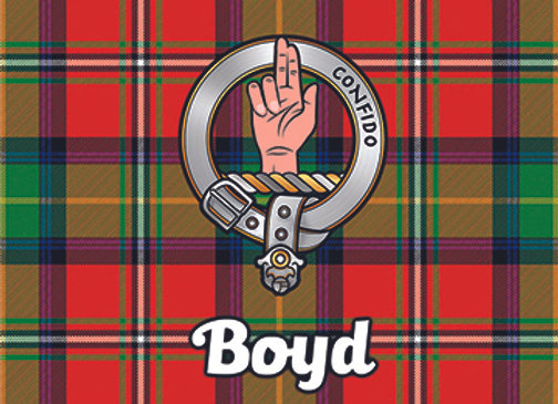Boyd: Glass Coaster, Pack of 6