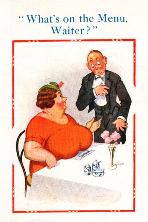 Waiter - Donald McGill - Postcards Pack of 48