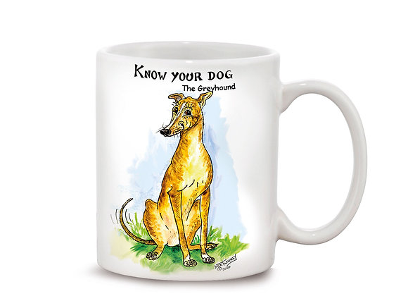 Greyhound - 11oz Mug - Know Your Dog - Pack of 6