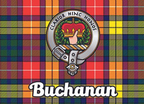 Buchanan: Glass Coaster, Pack of 6