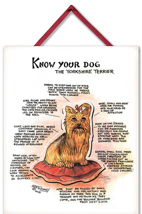 Yorkshire Terrier - 3D Wall Plaque - Know Your Dog - Pack of 6