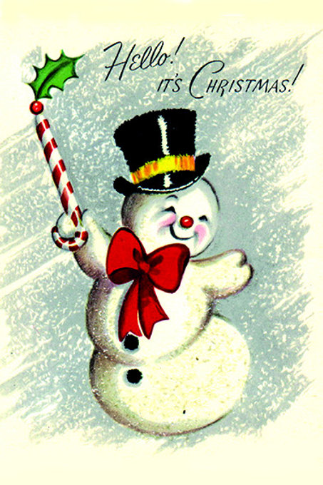 Wooden Christmas Card 42 - Pack of 6