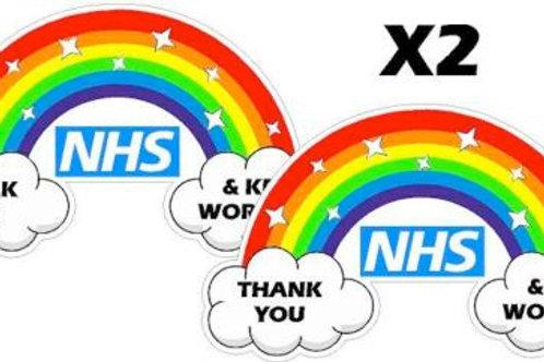 THANK YOU NHS rainbow sticker