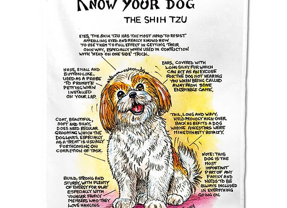 Shih Tzu - Tea Towel - Know Your Dog - Pack of 6