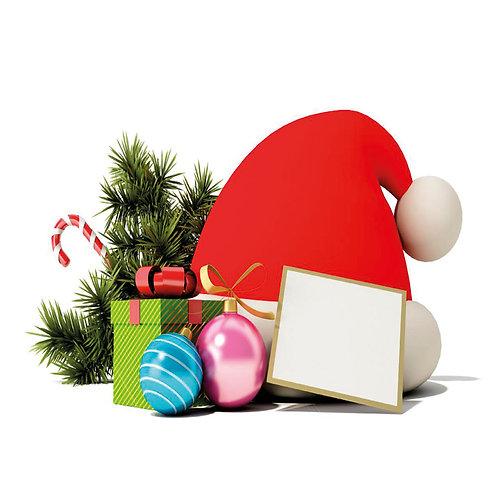 Glass Coaster Christmas  - Art2glass UK - Pack of 6