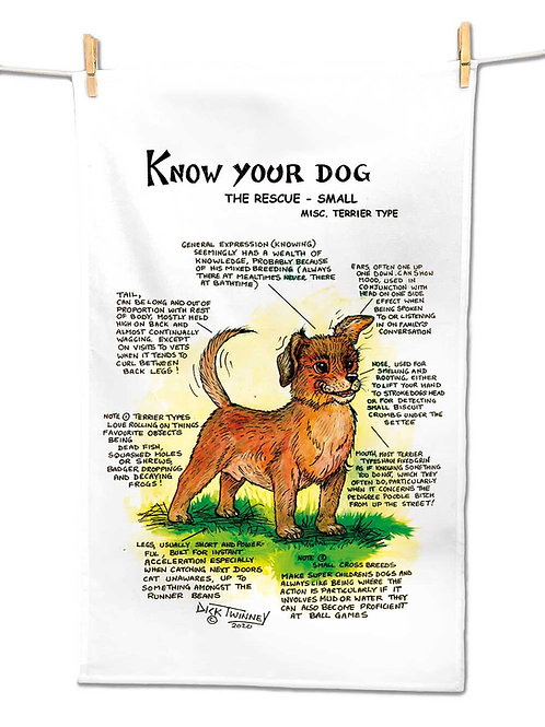 Rescue Dog Small - Tea Towel - Know Your Dog - Pack of 6