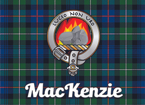 MacKenzie: Glass Coaster, Pack of 6