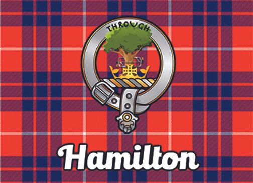 Hamilton: Glass Coaster, Pack of 6