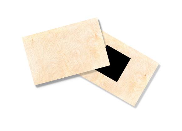Wooden Fridge Magnet - Pack of 24