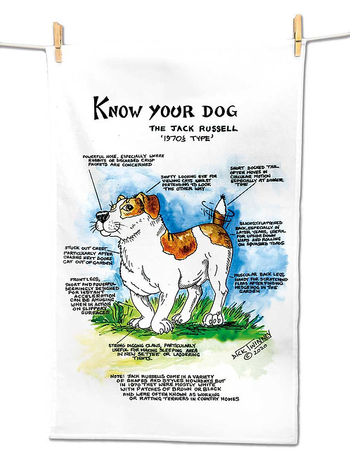 Jack Rusell - Tea Towel - Know Your Dog - Pack of 6