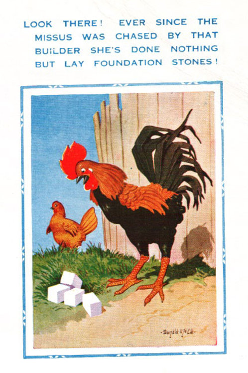 Foundation Stones - Donald McGill - Postcards Pack of 48