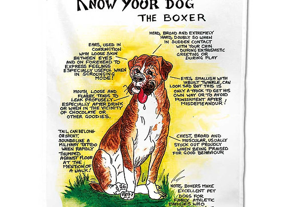 Boxer - Tea Towel - Know Your Dog - Pack of 6