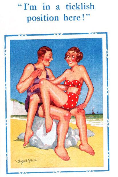 Ticklish - Donald McGill - Postcards Pack of 48