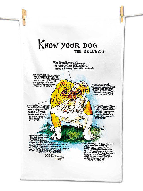 Bulldog - Tea Towel - Know Your Dog - Pack of 6