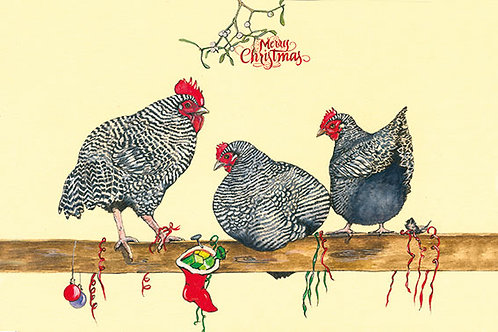 Maran Christmas - Wooden Christmas Card - Sue Podbery - Pack of 6