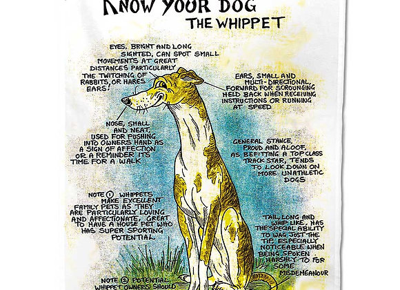 Whippet - Tea Towel - Know Your Dog - Pack of 6