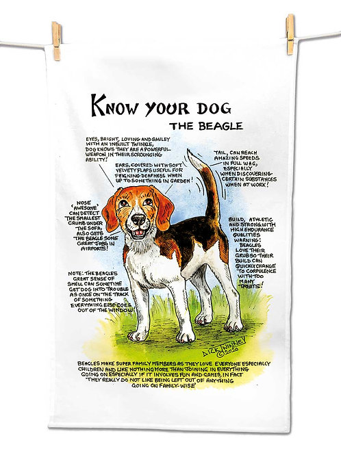 Beagle - Tea Towel - Know Your Dog - Pack of 6