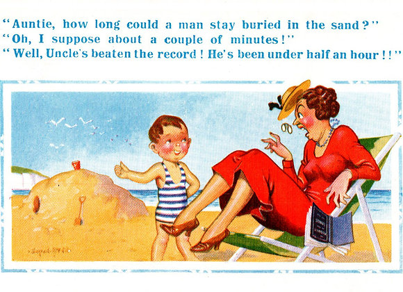 Buried Uncle - Donald McGill - Postcards Pack of 48