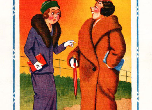 Fur Coat- Donald McGill - Postcards Pack of 48