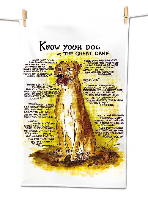 Great Dane - Tea Towel - Know Your Dog - Pack of 6