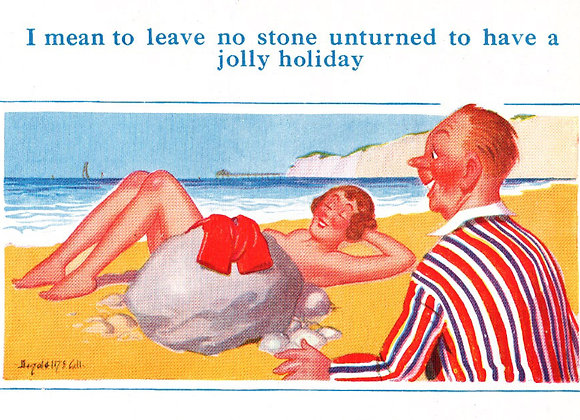 No Stone - Donald McGill - Postcards Pack of 48