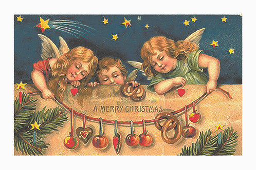 Wooden Christmas Card 15 - Pack of 6