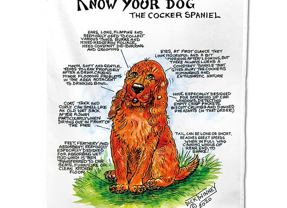 Cocker Spaniel - Tea Towel - Know Your Dog - Pack of 6