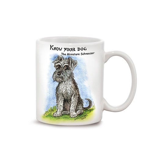 Miniature Schnauzer - 11oz Mug - Know Your Dog - Pack of 6