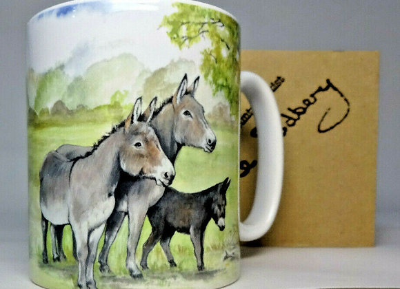 Donkeys under tree - Mug 10oz - Sue Podbery - Pack of 3