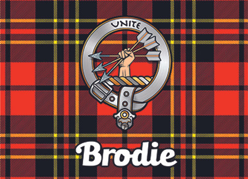 Brodie: Glass Coaster, Pack of 6