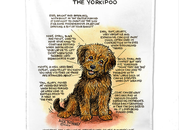Yorkipoo - Tea Towel - Know Your Dog - Pack of 6