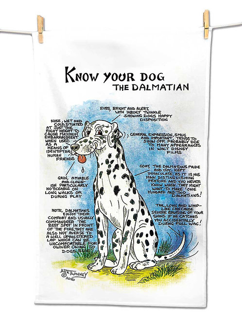 Dalmation - Tea Towel - Know Your Dog - Pack of 6