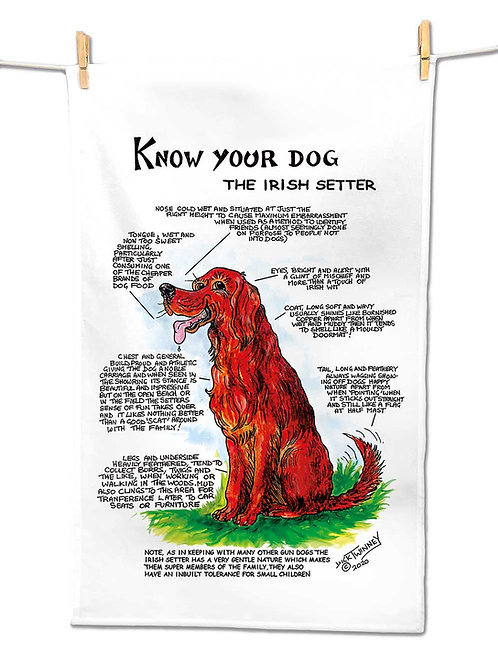 Irish Setter - Tea Towel - Know Your Dog - Pack of 6
