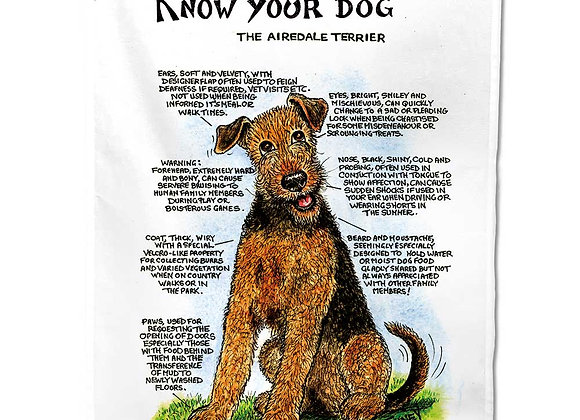 Airedale - Tea Towel - Know Your Dog - Pack of 6