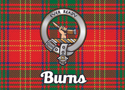 Burns: Glass Coaster, Pack of 6